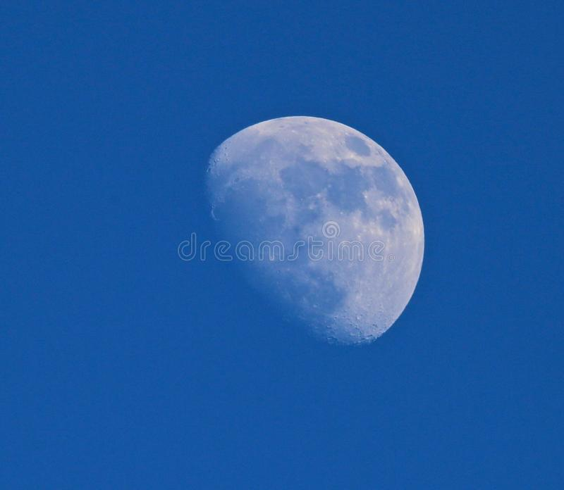 Waning moon royalty free stock images