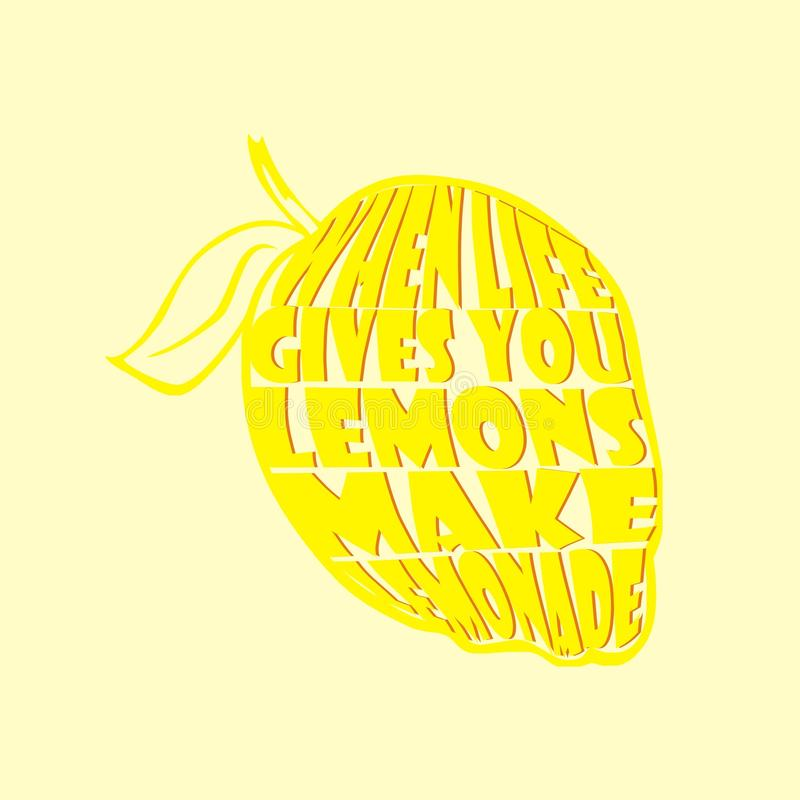 Wanneer het leven u citroenen geeft vector illustratie