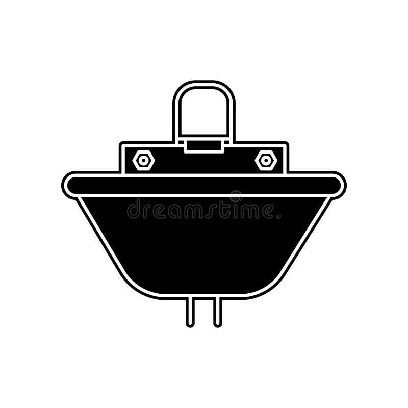Wannenikone Element des Badezimmers f?r bewegliches Konzept und Netz Appsikone Glyph, flache Ikone f?r Websiteentwurf und Entwick vektor abbildung