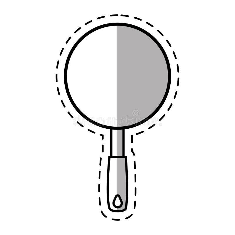 Wannenküchengeschirrmetallinländische Schnittlinie vektor abbildung