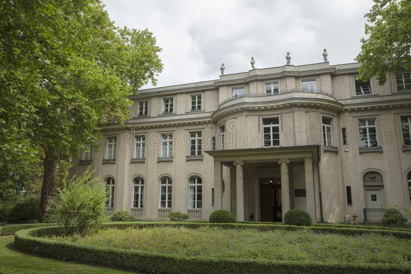 Wannsee, Βερολίνο, Γερμανία  Στις 23 Αυγούστου 2018  Βίλα Wannsee στοκ εικόνες με δικαίωμα ελεύθερης χρήσης
