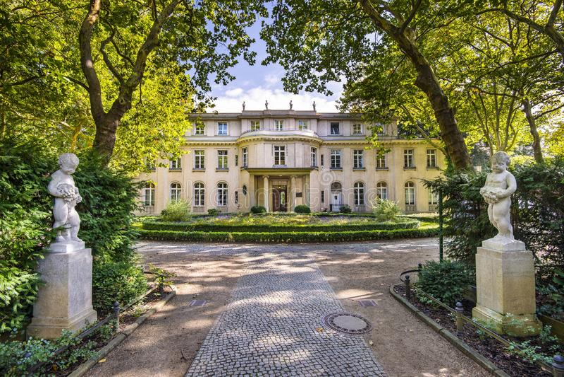 Wannsee dom w Niemcy zdjęcia royalty free