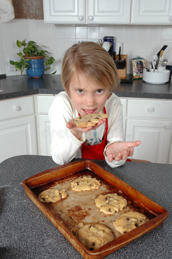 Download Want a Cookie? stock photo. Image of face, chef, eyes, cabinets - 524152