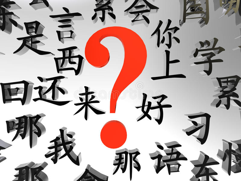 Want To Learn Chinese? vector illustration