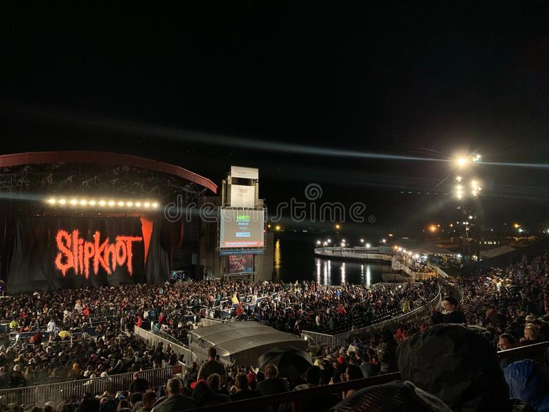 Wantagh,New York,America - August 28,2019 : America heavy - metal band slipknot of the concert at northwell health - image. Wantaghnew, yorkamerica, 282019 stock images