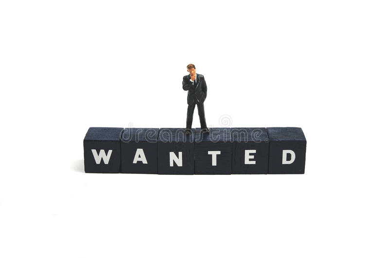 Wanted!. Wanted, good staff to fill vacancy stock photos