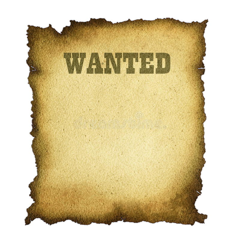 Download Wanted stock illustration. Image of parchment, document - 14276371
