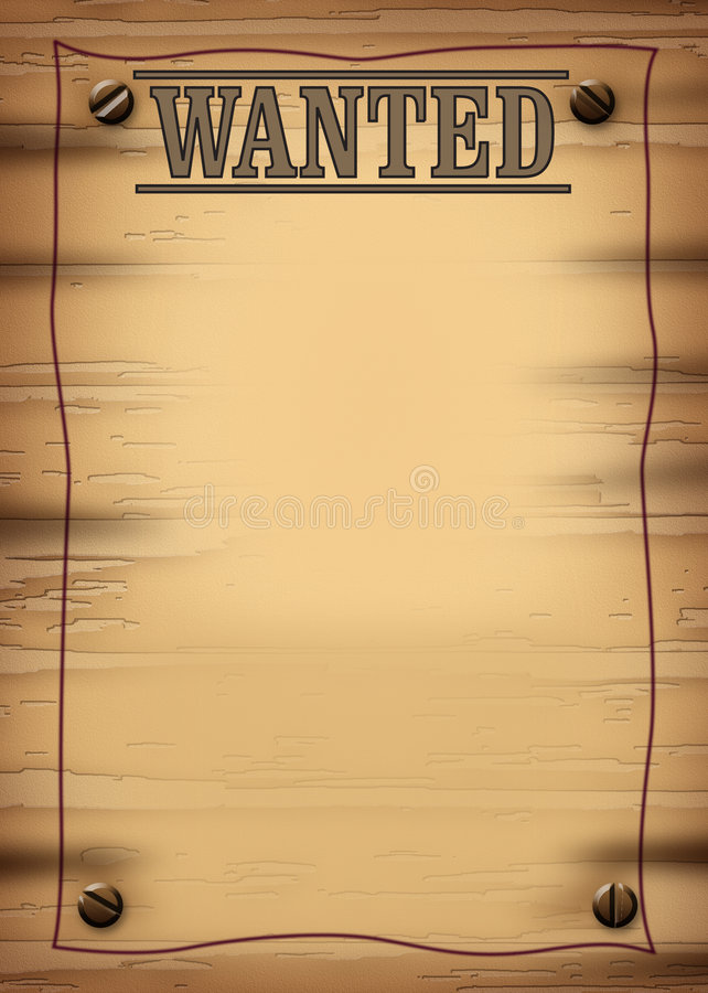 Download Wanted 2.jpg stock illustration. Image of advertisement - 748922