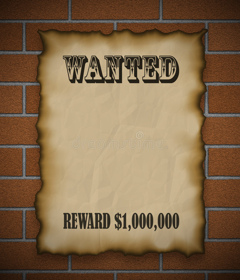 Download Wanted! stock illustration. Illustration of warning, west - 453903