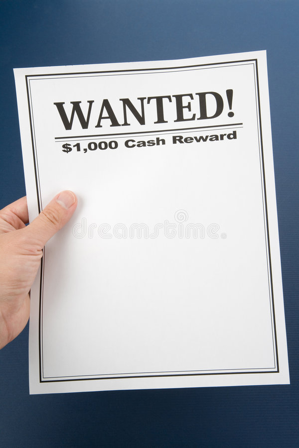 Wanted royalty free stock image