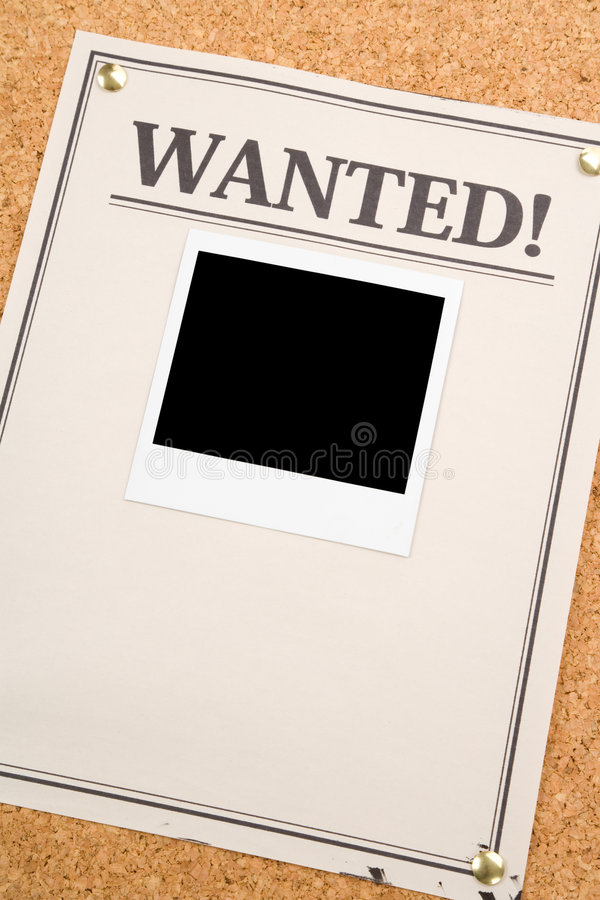 Wanted stock photography