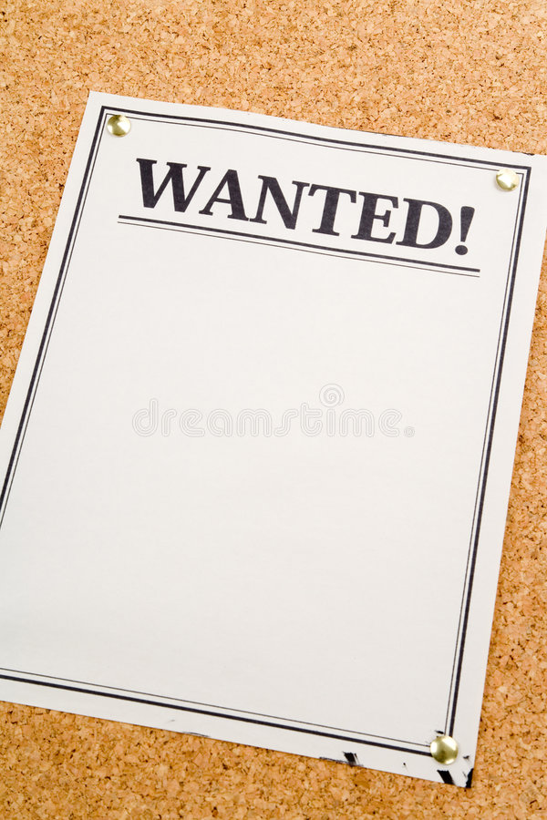 Wanted royalty free stock photography