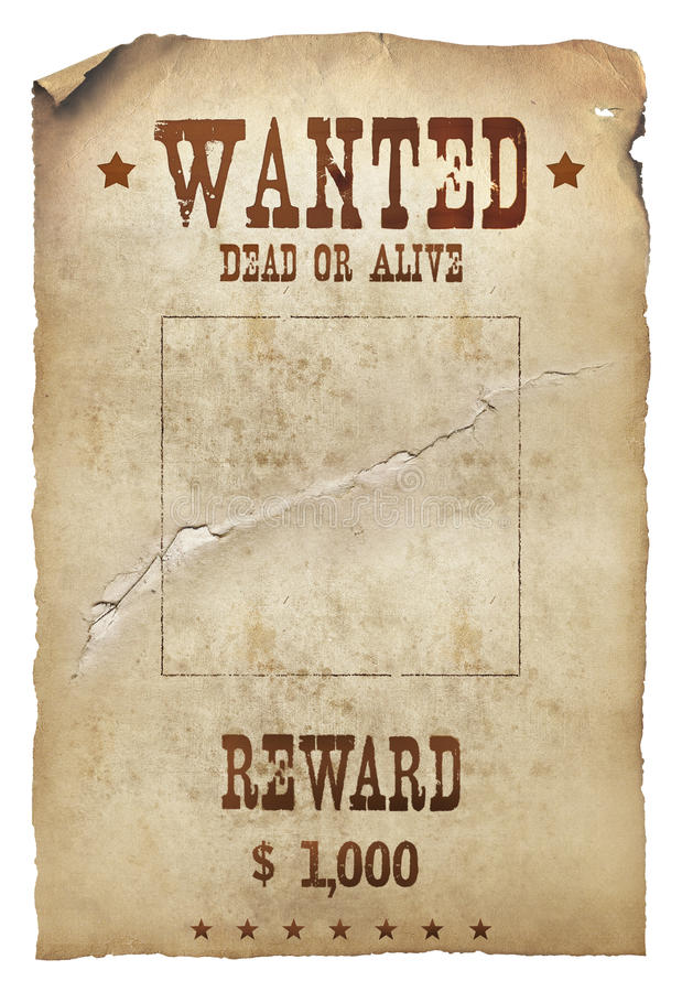 Free Wanted Dead Or Alive Royalty Free Stock Images - 21432629