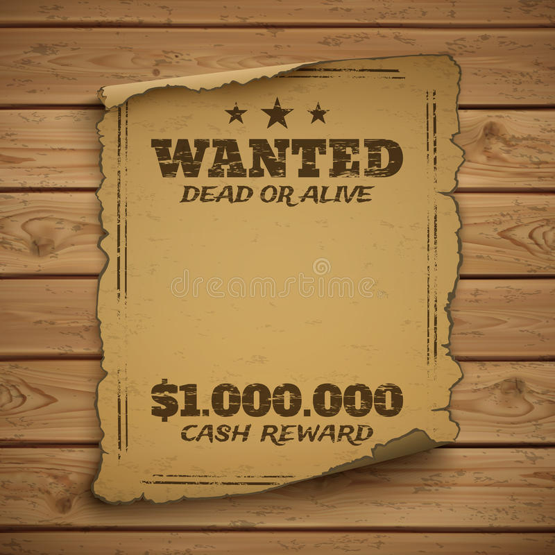 Free Wanted, Dead Or Alive Royalty Free Stock Images - 58570109