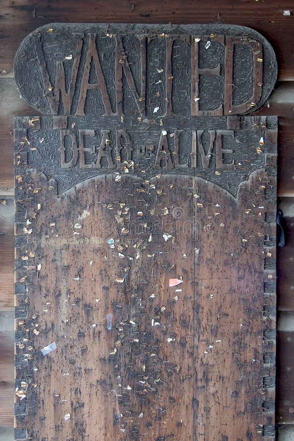 Free Wanted Dead Or Alive Board. Stock Images - 363834