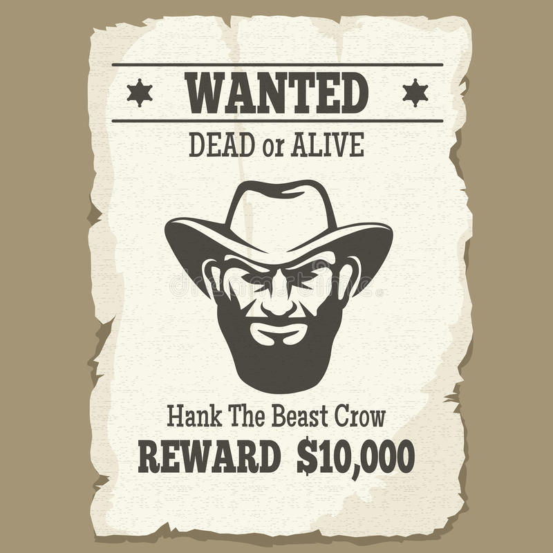 Free Wanted Dead Or Alive Western Poster Stock Photos - 69375763