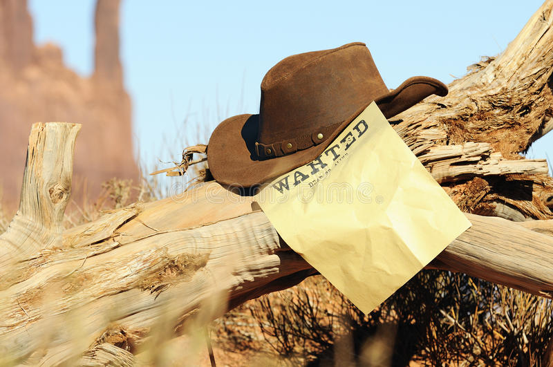Wanted far west stock images