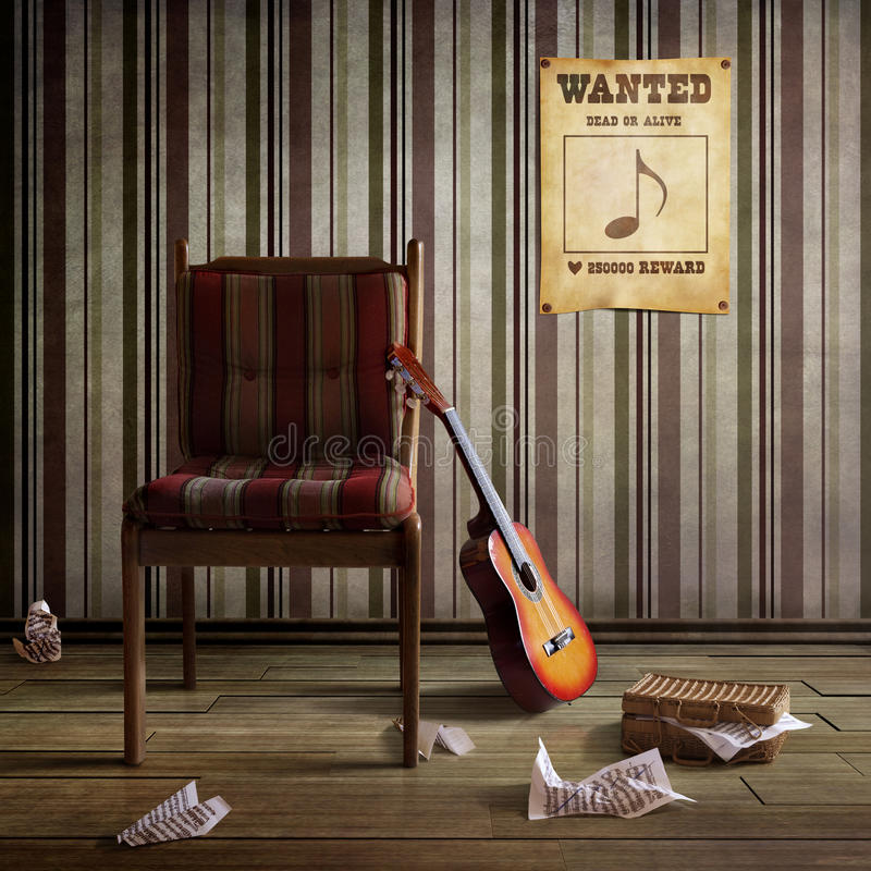 Wanted inspiration. Coole Poster with Theme Wanted inspiration stock image