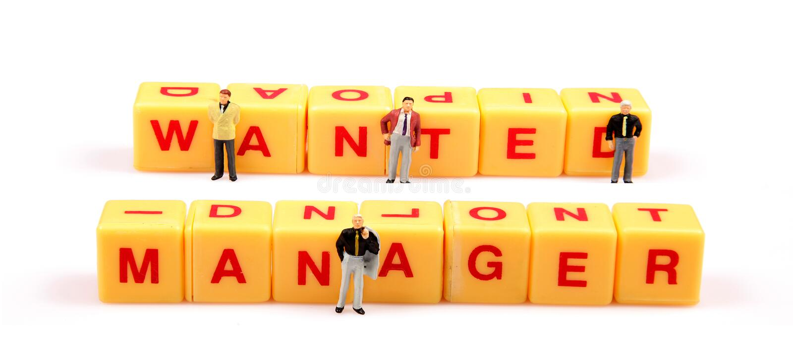 Wanted Manager Royalty Free Stock Image