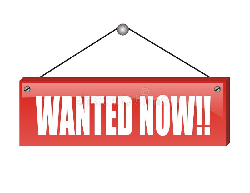 Download Wanted now stock vector. Image of employee, white, wanted - 3938205