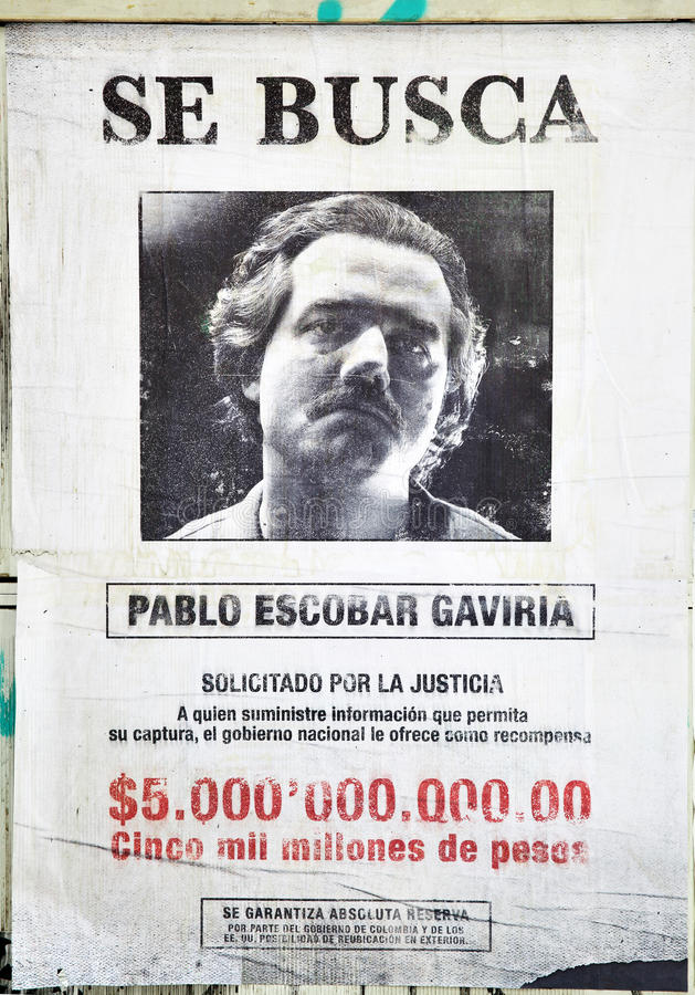Free Wanted Pablo Escobar Stock Image - 78336191