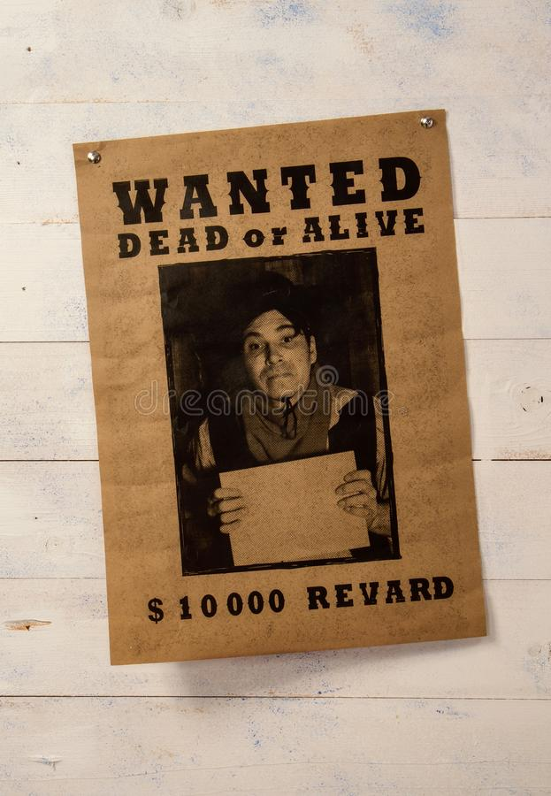 Wanted paper notice royalty free stock photos