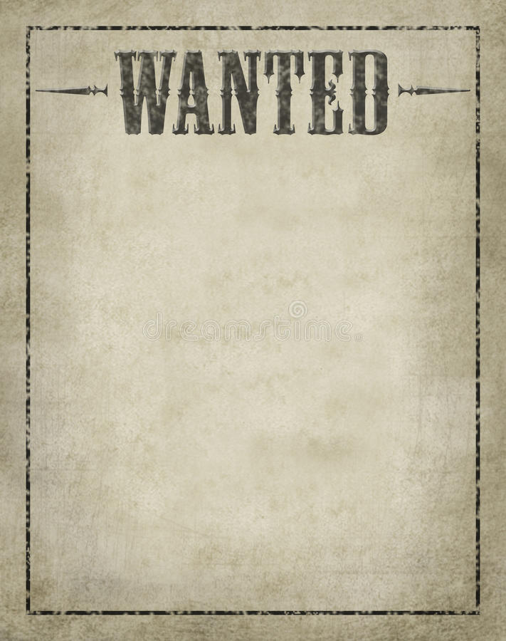 Wanted Poster vector illustration