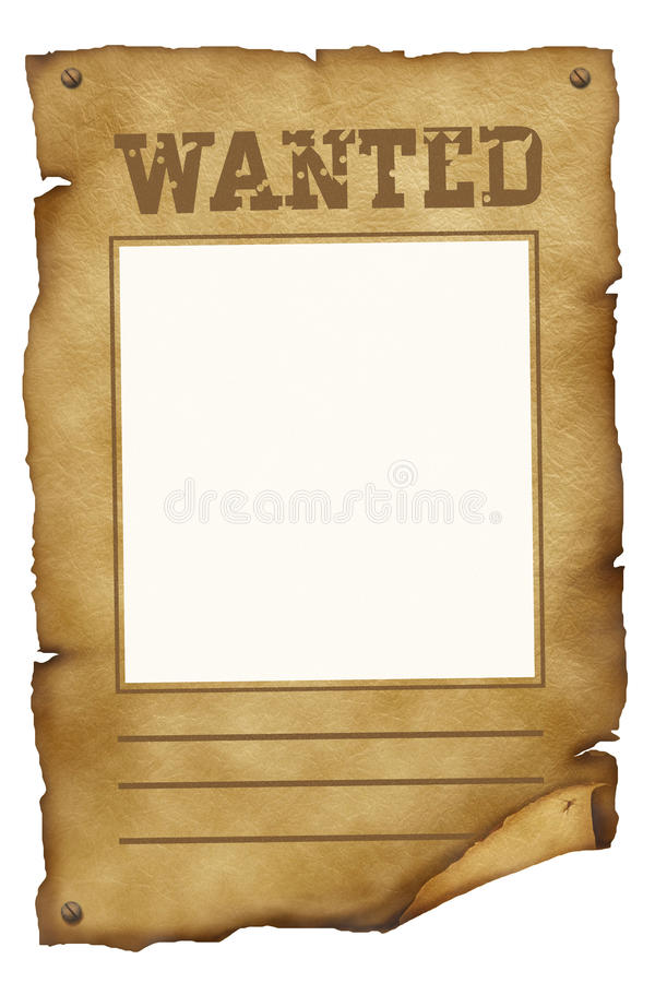 Download Wanted poster stock illustration. Illustration of parchment - 15848008