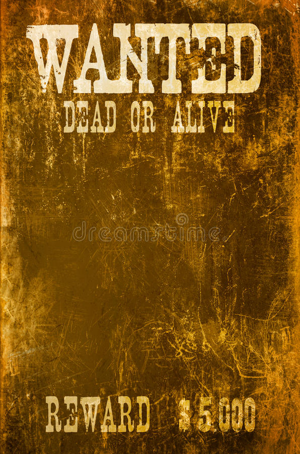 Download Wanted poster stock illustration. Image of grunge, antique - 17339361