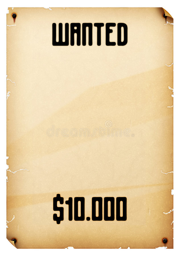Download Wanted Poster Stock Photos - Image: 3325723