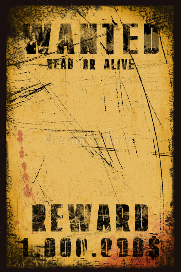 Download Wanted Poster Stock Image - Image: 4231011
