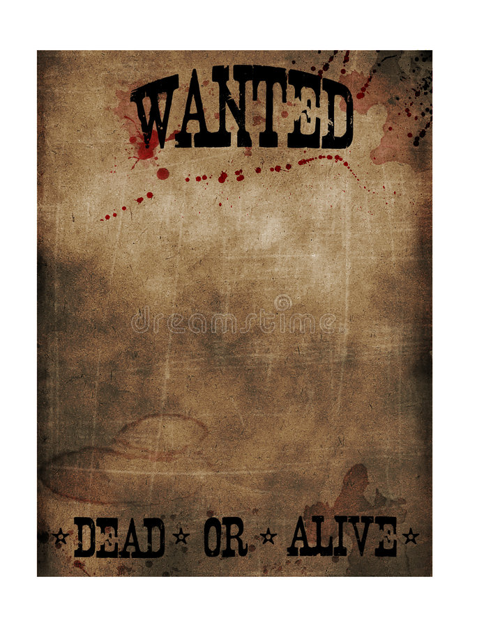 Wanted poster stock photos