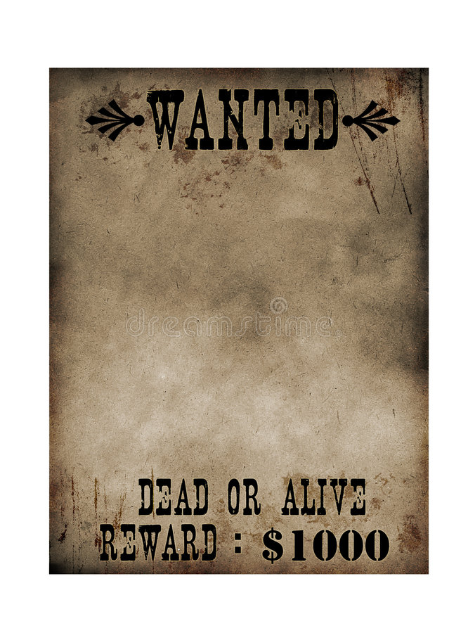 Wanted Poster royalty free stock photos