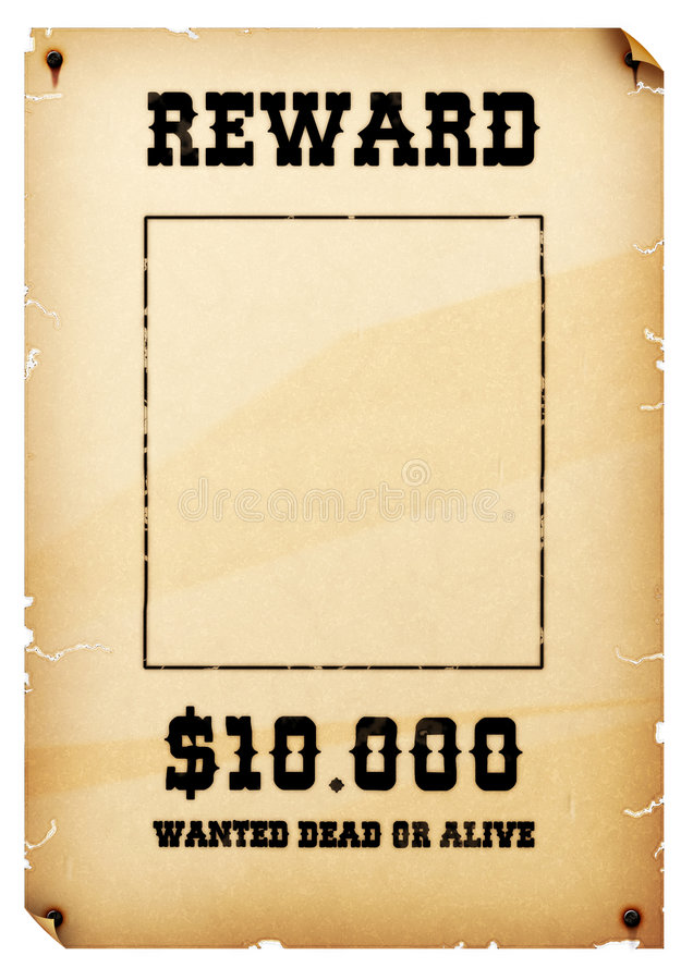 Wanted Poster royalty free illustration