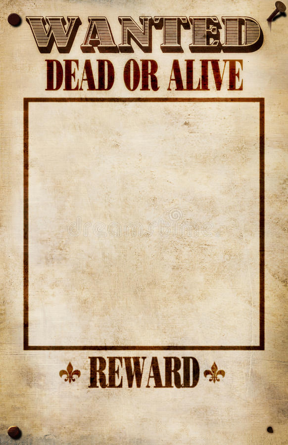 Wanted Poster - Blank Reward Stock Illustration - Illustration of ...