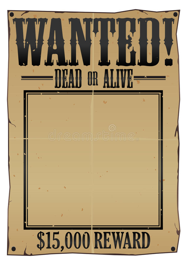 Wanted Poster EPS stock illustration
