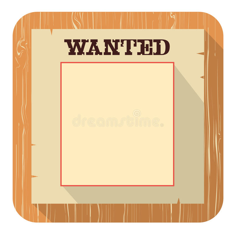 Wanted Poster Icon.vector Flat Style Design Royalty Free Stock