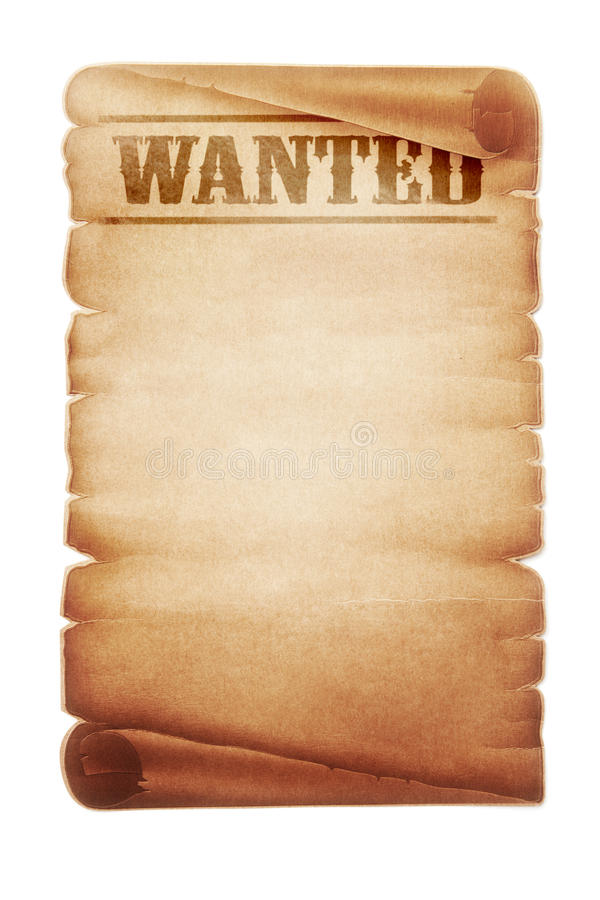 Wanted sign stock illustration