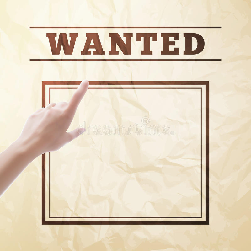 Wanted Sign. Stock Photo