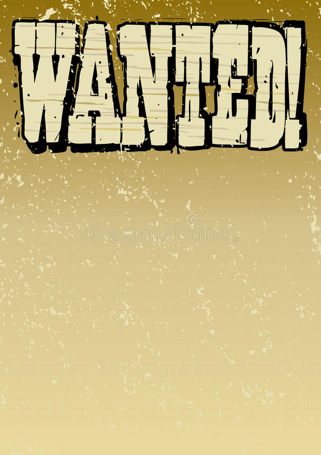 Download Wanted Wooden Lettering stock vector. Image of premium - 14447197