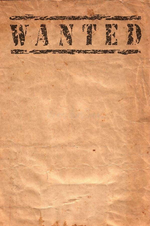 Free Wanted Xxlarge Royalty Free Stock Image - 10030326