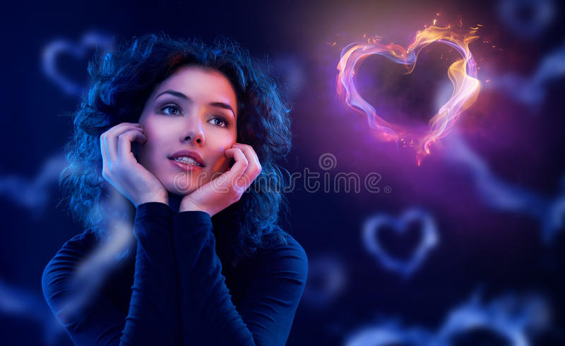 Wanting to love. Beautiful girl wanting to love royalty free stock images