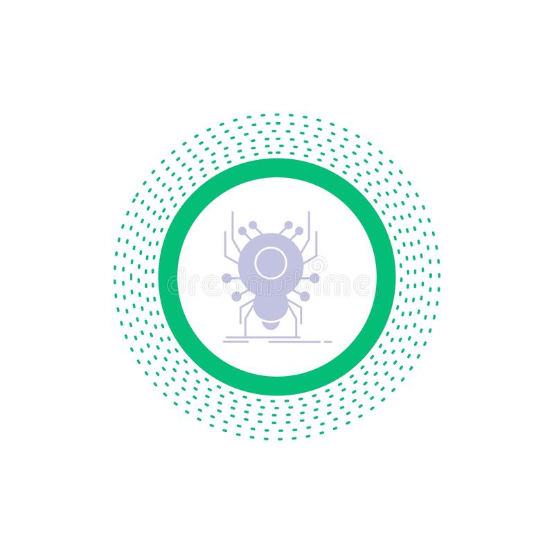 Wanze, Insekt, Spinne, Virus, App Glyph-Ikone Vektor lokalisierte Illustration vektor abbildung