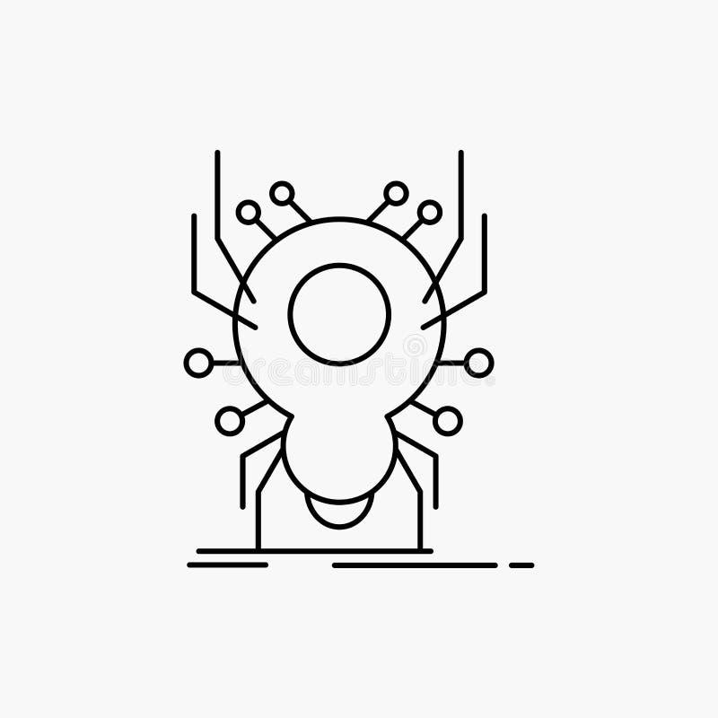 Wanze, Insekt, Spinne, Virus, App-Linie Ikone Vektor lokalisierte Illustration vektor abbildung