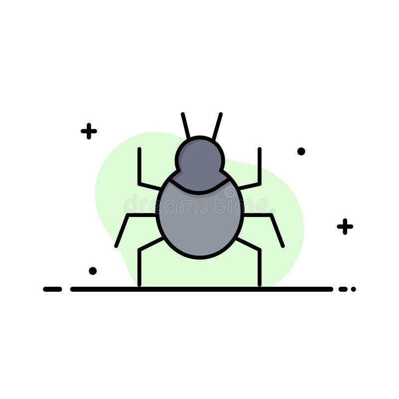 Wanze, Natur, Virus, indisches Geschäft Logo Template flache Farbe lizenzfreie abbildung