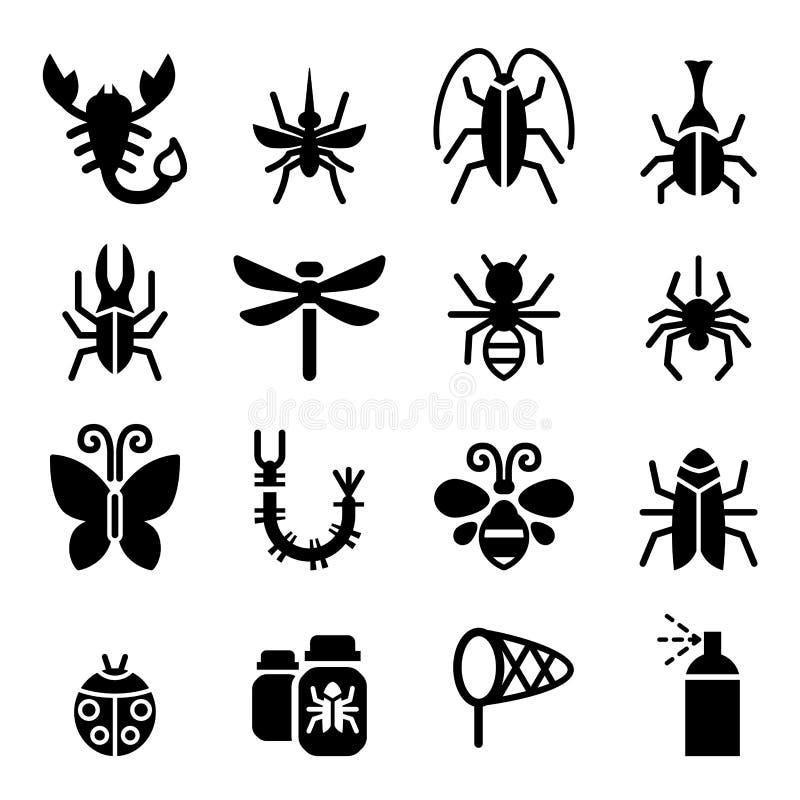 Wanzen- u. Insektenikone lizenzfreie abbildung