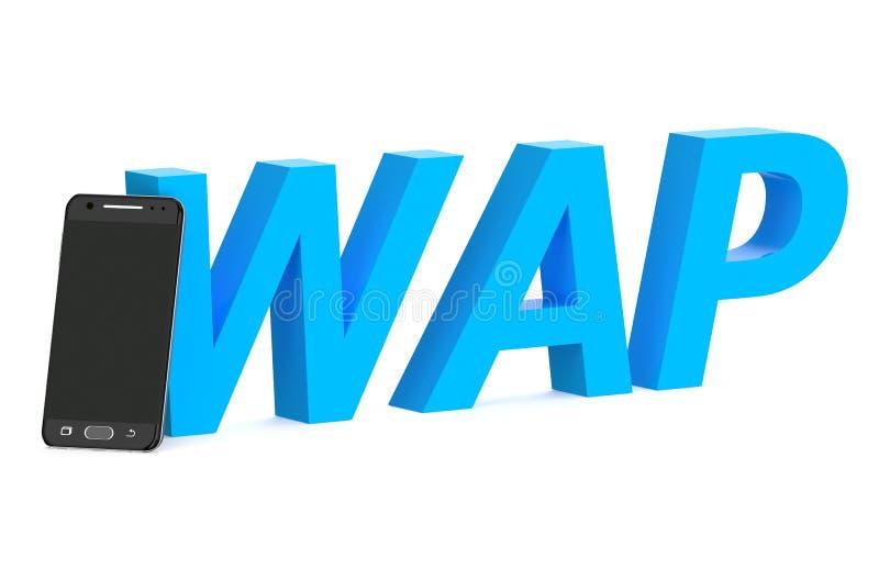 Wap begrepp med smartphonen vektor illustrationer