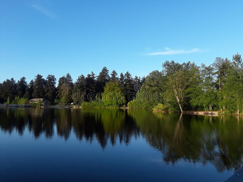 Wapato lake royalty free stock photos