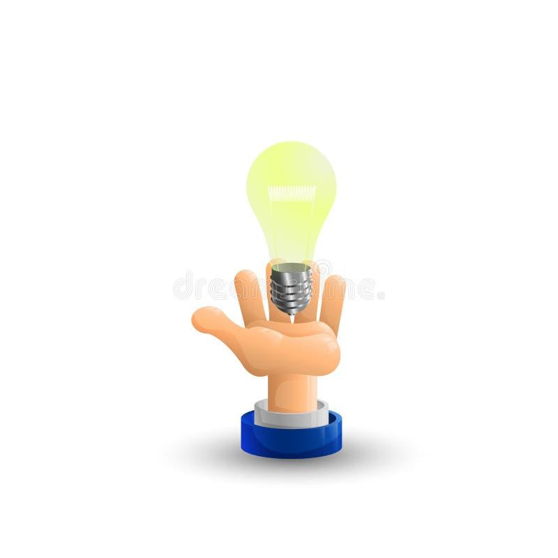 wapen Bedrijfs hand Het concept van het idee, vectorillustratie Idee palm omhoog 3D Pictogram vlak royalty-vrije illustratie