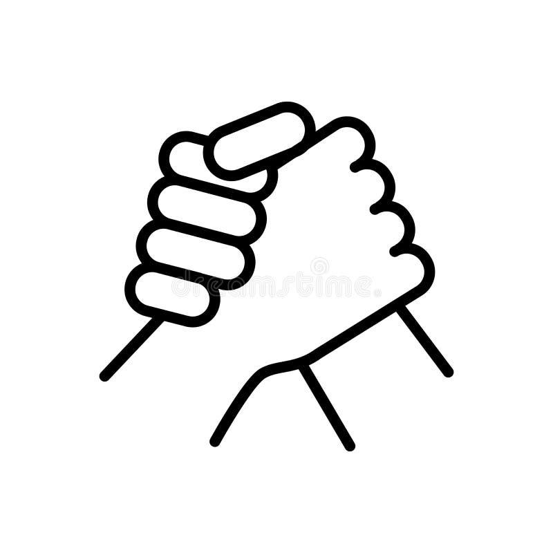 Wapen die sportief pictogram worstelen het eenvoudige symbool van de de stijlsport van het illustratieoverzicht stock illustratie